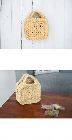 Crochet Tote, Crochet Purses, Crochet Crafts, Knit Crochet, Finger Knitting, Macrame Bag, Yarn Projects, Textile Art, Lana