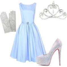 Cinderella by missmarisam on Polyvore featuring Forzieri, ASOS, halloween, glass slippers, princess, cinderella and tiara