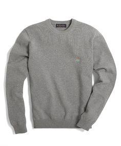 Supima® Logo Crewneck Sweater,$98.50