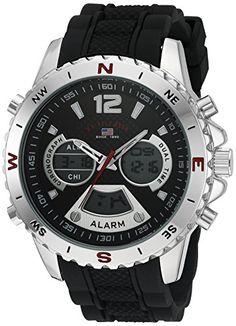 U.S. Polo Assn. Sport Mens Quartz Metal and Rubber Casual Watch Color:Black (Model: US9550) http://ift.tt/2jT68f4