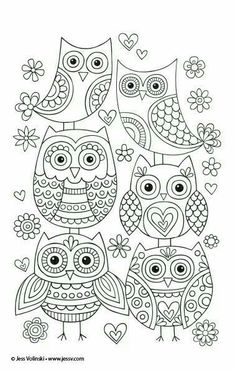 Cute owls you can draw at home! You can use them for temples for embroidery or just practice drawing! Cute DOODLING draw drawing embroidery happy Home owls practice temple Temples Owl Doodle, Doodle Art, Owl Coloring Pages, Coloring Books, Mandala Coloring, Coloring Sheets, Mundo Hippie, Owl Crafts, Owl Art