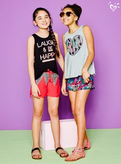 Graphic tanks that are serious about style, but playful at heart.