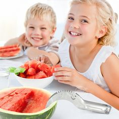 Amazon.com: Watermelon Slicer - Cuts & Serves Fresh Melon Quickly, Without a Mess - It's the Best Fruit Corer, Cutter and Tongs, all In One Awesome Kitchen Tool: Kitchen & Dining