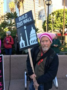 The only wall we need. << Repinning not only for the message that I agree with, but the cute gentleman's hat!!