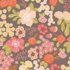 stormy bouquet wrapping paper - bec nolan x love mae