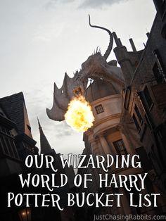 Wizarding World of Harry Potter Universal Orlando Bucket List