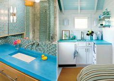Bright Blue Countertops