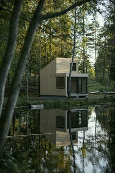 12 Ideas container house plans green life for Gallery of / Marianne Borge - 19 Cabin Design, House Design, Timber Cabin, Tiny Cabins, Modern Cabins, Little Houses, House In The Woods, Modern Architecture, Sustainable Architecture