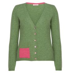 Marilyn Moore 2013 Handmade Cashmere patch pocket cardigan