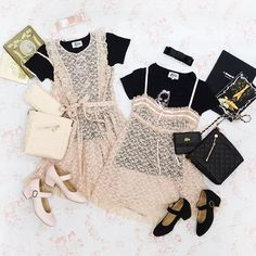Lethal Lolita Sisters👭💕 Tee¥9,800- Dress¥21,800- Baby doll¥22,800- Bag¥13,000- wallet¥11,000-  compact wallet 11月発売予定 Shoes 9月発売予定 #katiethestore