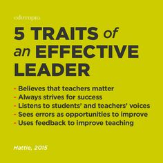 When it comes to what makes an effective leader, the research says it best.