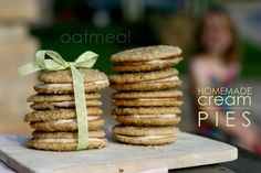 Oatmeal cream pies...I want to compare this recipe to another I've pinned.