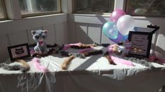 You will LOVE the details of this Cat birthday party. There's a lot of personalized cat birthday party supplies & our famous cat litter we served guests!