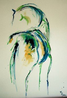 "Pen and Ink on paper - Saatchi Art Artist Marie Ackers; Drawing, ""Horse I"" … Art Prints, Watercolor Art, Art Painting, Animal Art, Art Drawings, Drawings, Horse Painting, Art, Saatchi Art"