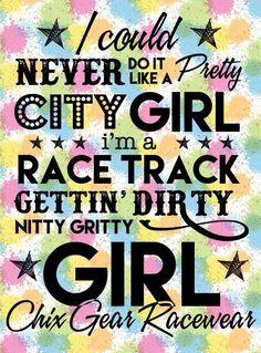 Dirt track girl