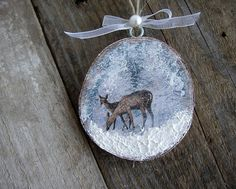 Christmas Ornaments Nature Ornaments Deer Ornament by ForesteDiOro