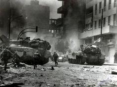Combat in Beirut. First Lebanon war