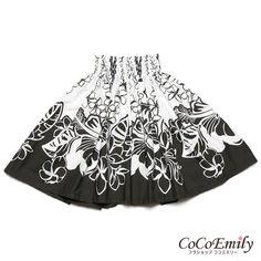 Beautiful black and white pa'u Hawaiian People, Island Wear, Hula, Boho Shorts, Black And White, Inspired, Fabric, How To Wear, Inspiration