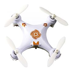Foxnovo Cheerson CX-10A 2.4GHz 4CH 6-Axis Gyro 3D Tumbling Headless Mode Mini RC Quadcopter UFO RTF with LED Lights (White)