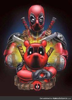 Winnie the deadpooh and deadpool . Disney Marvel, Lego Marvel, Marvel Dc Comics, Marvel Heroes, Marvel Avengers, Comic Movies, Comic Books Art, Comic Art, Deadpool Fan Art