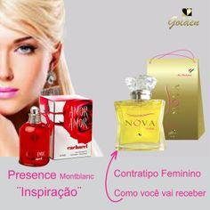 """Contratipo """"Nova"""" inspirado no Perfume Amor Amor. Ideal para seu dia-a-dia. Fixação de 6 a 8 horas. http://www.novalinha.com.br/perfume-feminino/golden/amor-amor-inspiracao.html"""