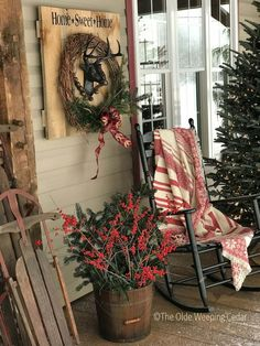 32 Amazing Farmhouse Christmas Porch Decor And Design Ideas. If you are looking for Farmhouse Christmas Porch Decor And Design Ideas, You come to the right place. Below are the Farmhouse Christmas Po. Farmhouse Christmas Decor, Outdoor Christmas Decorations, Rustic Christmas, Christmas Home, Christmas Holidays, Christmas Wreaths, Christmas Ideas, White Christmas, Christmas Design