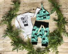 Waard het wachten pasgeboren jongen Take Home Outfit door anUPdesign