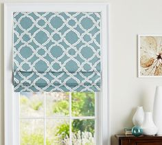 "Roman shades are probably best - there is no room for a panel to hang.  But my molding isn't this nice and wide??  So outside mount?  Also, OTC they are 64"" long, rather than 72"".   Kendra Trellis Cordless Roman Shade 