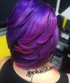 STYLIST FEATURE| Color crushing on this purple #haircolor styled by #DallasStylist @1girlabouthair  GORGEOUS #voiceofhair ========================= Go to VoiceOfHair.com ========================= Find hairstyles and hair tips! =========================