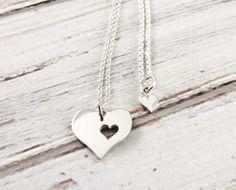 Morceau de mon coeur - mère et la fille collier set - ensemble de collier en argent Sterling - maman et fille bijoux - cadeau pour maman - fête des mères