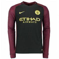 Fodboldtrøjer Premier League Manchester City 2016-17 Udebanetrøje Langærmede