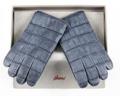Even if you're chilly, you'll be stylish in these #Brioni #blue #crocodile #leather #gloves.  |  Want some? http://www.frieschskys.com/accessories/gloves |  #frieschskys #men #mensfashion #fashion #mensstyle #style #moda #menswear #dapper #stylish #MadeInItaly #Italy #couture #highfashion #designer #shopping