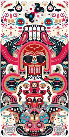 Skull art Ideafixa #vector
