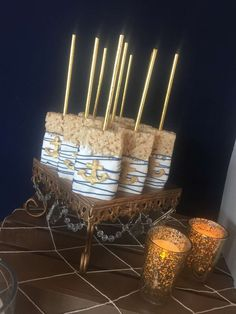 'n our Opulent Treasures cake stands >> In High Tide or Low Tide I'll Be By Your Side | CatchMyParty.com