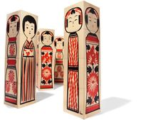 Kokeshi Blocks House Industries. Love, love, love!!!!Celebrate the craft of traditional Japanese Kokeshi folk art with this illustratively compact hand-printed basswood block set. Our authentic brush strokes define four different Kokeshi dolls as well as a visually versatile puzzle that will delight the young and old alike.