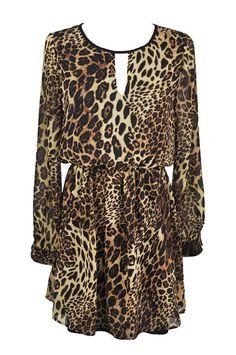 2012 Leopard Chiffon Celebrity Dress - Sheinside.com