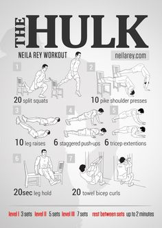 Neila Rey Workout, Hulk