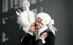Karnevalskostüm faschingskostüm perücken papier barock männer frauen kostüme