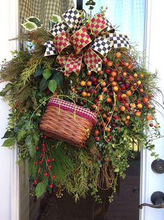 Country Valentine Wreaths   COUNTRY BERRIES Fall Thanksgiving Christmas Holiday Rustic Prim Prem ...