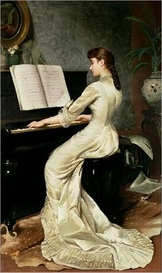 A Song Without Words (1880). George Hamilton Barrable (British)