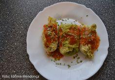 As Delícias das Guerreiras: Rolinhos de couve-lombarda com carne picada
