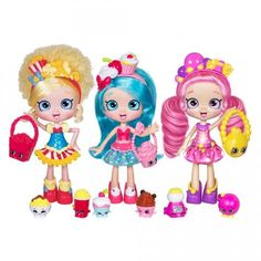 Shoppies are the new line of Shopkins dolls that were released in October 2015. There are three Shoppie dolls, and they are named Popette, Jessicake and Bubbleisha. Each doll comes with with exclusive...