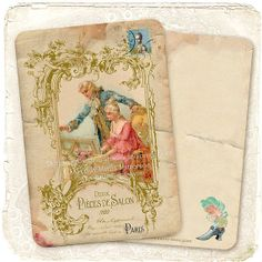 Marie Antoinette French Valentine Note Cards by mulberrymuse