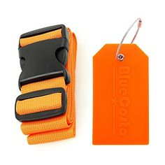 BlueCosto Luggage Straps Orange  Privacy Protection Suitcase Tag Orange *** See this great product.