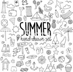 Choose from 60 top Summer Illustration stock illustrations from iStock. Doodle Drawings, Doodle Art, Bujo Doodles, Sketch Notes, Bullet Journal Inspiration, Coloring Pages, How To Draw Hands, Clip Art, Writing