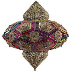 lmpara colgante estilo marroqu colores decoracion lamparas