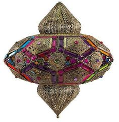 Lámpara colgante estilo marroquí colores #decoracion #interiorismo #lamparas