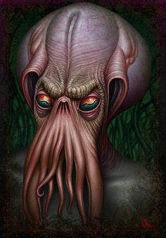 """It's well known that the great Cthulhu has a particular bond with artists of all sorts. Lovecraft's """"The Call of Cthulhu"""" it's docu. Art Cthulhu, Cthulhu Tattoo, Lovecraft Cthulhu, Call Of Cthulhu, The Crow, Lovecraftian Horror, Eldritch Horror, Lord, Creature Feature"""