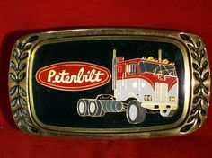 Vintage Peterbilt Trophy Belt Buckle by legacyleathercraft on Etsy, $14.95