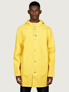 Stutterheim Men's Stockholm Raincoat Purchased one of these in navy with orange sleeves for the wet Scottish weather